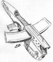 Shadowrun Crossbow SMG by raben-aas