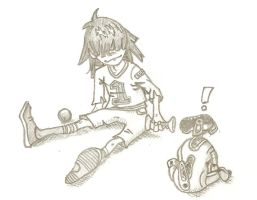 Noodle and AIBO by colorado-beetle