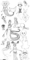 Sunday SketchDump: Supernatural Creatures by dubbelu