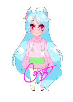 My sister's oc chibi by Corsset