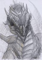 The First Elderdragon Pencildrawing by Brollonks