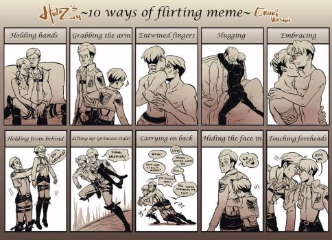 10 Ways Of Flirting Meme Eruri by msloveless