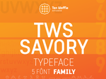 TWS Savory typeface by 32-D3519N
