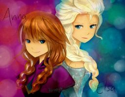 Anna and Elsa by tomoyo-chan10