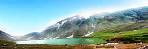 Lake Saif-ul-Mulook Panorama by salmanarif