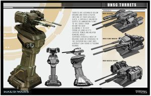 Halo Wars UNSC Turrets by saizarod