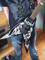 My Kerry King (Slayer) signature guitar by Maidenforever666