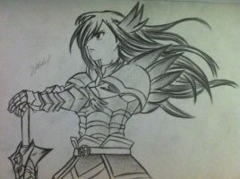 Erza Scarlet drawing by NaLulu1