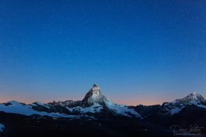 The Matterhorn under the stars by LinsenSchuss