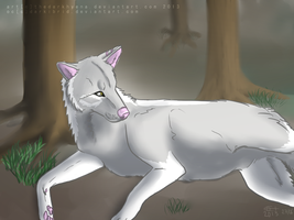 :Lying in the wood: by TheDarkHyena