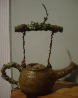 wooden tea pot complete by thebigduluth