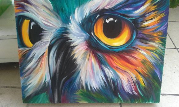 Colorful owl 2 by Twoowls2