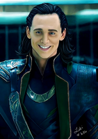 Loki's Smile by kittenangel116