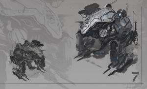 Mech Sketch by zakforeman