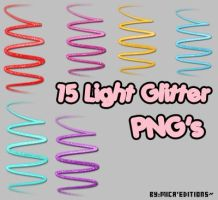 15 Light Glitter PNG's by Mica-Editions