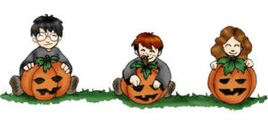 Three Pumpkins by Scila