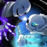 Sans VS Gaster by Toriichi
