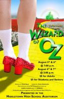 Wizard of Oz theatre poster by Drake729