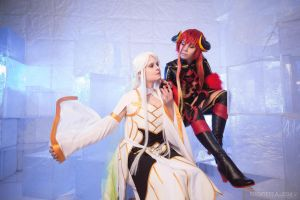 Balder Hringhorni  and Loki Laevatein by NoNameCosplayTeam