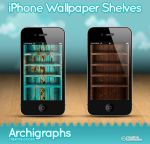 iPhone Wallpapers shelves by Cyberella74