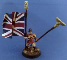 Imperial Guard Standard Bearer by etiennekendrick
