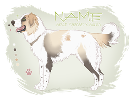 Pyrenees mix Adopt [CLOSED] by mooberri