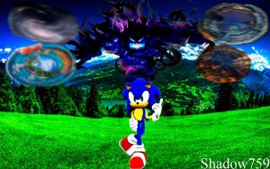 Sonic The Hedgehog Reminiscent Poster by shadow759
