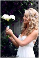 Bride and Bouquet by CMSPhotography
