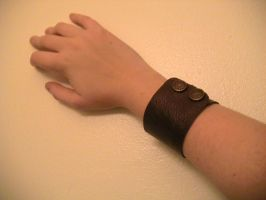 Leather Cuff - Second :WIP?: by Blackethouse