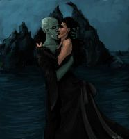 Dark Lord and Bellatrix by liana-wood