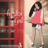Hipster Girl by merescorpioeditions