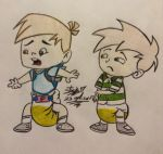 Request:Watchanbrowse Milo and Max Wearing Diaper  by Traje17