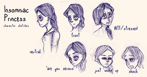Insomniac Princess Character Sketches by AngieMyst