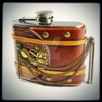 steampunk flask by alexlibris999