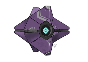 Requested. custom ghost from destiny. by hent-ai