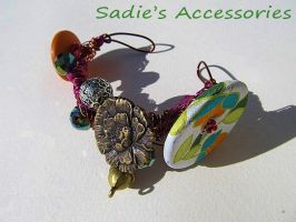 Brightest of Springs Wire-Wrapped Bangle Bracelet by SadiesAccessories