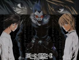 Wallpaper Death Note version 1 by undeadoff