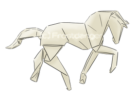 Origami horse by Frostdanger