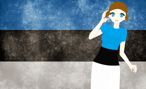 HM CSF Estonia flag background by ABtheButterfly