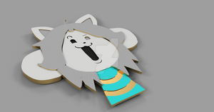 Temmie Magnet Front by Zealandfox