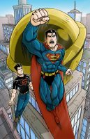 Superman and Superboy by Godsartist