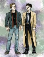Dean and Cas by rainbowAttack