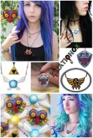 Legend of Zelda inspired Necklaces by Ideationox