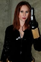 Black Widow with a Gun by Lady-Skywalker