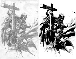 Batman on Cross by ernestj23