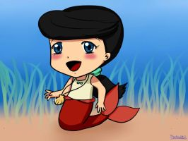 Chibi Melody, daughter of The Little Mermaid. by potterchic1