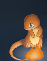 Charmander in the dark by kittenundead