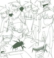 Another Another Murdoc Sketch by Shinohida