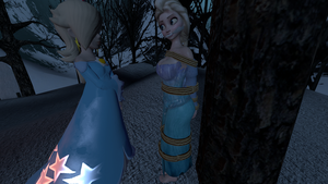 Rosalina Captures Elsa by BlakKnight08