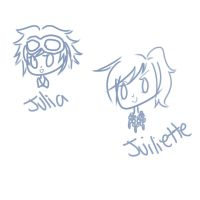 Julia and Juiliette Chibi Requests by DoodlesSketchy